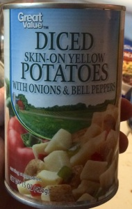Great Value Diced Skin-on Yellow Potatoes
