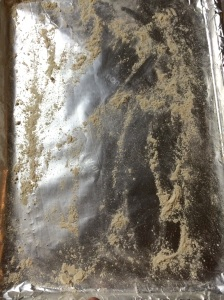 Lightly dust foiled cookie sheet with flour